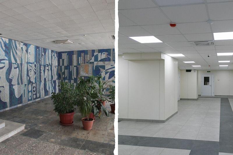 Белые стены вместо легендарной мозаики: как меняется обновленная больница в Волжском?