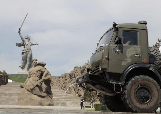 Мемориальный комплекс на Мамаевом кургане в Волгограде продезинфицировали