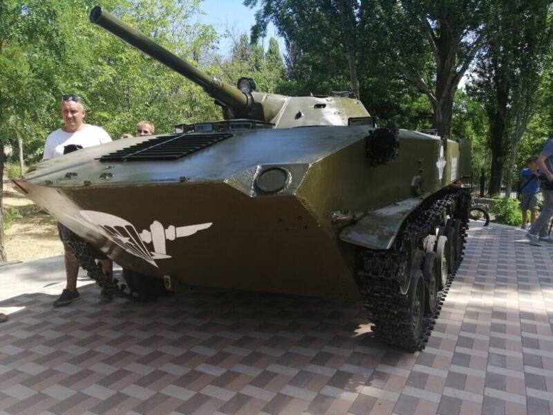 В парке Гагарина появилась боевая машина десанта
