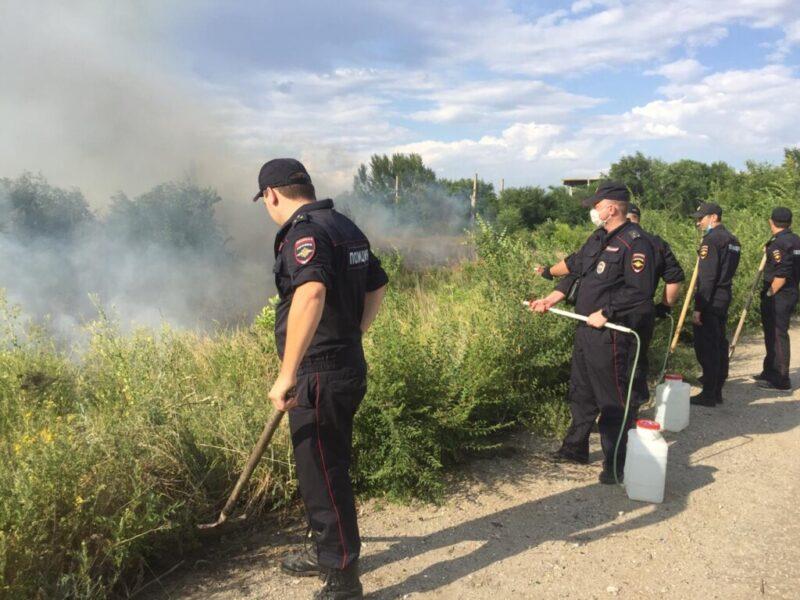 7 районов Волгоградской области охвачены ландшафтными пожарами