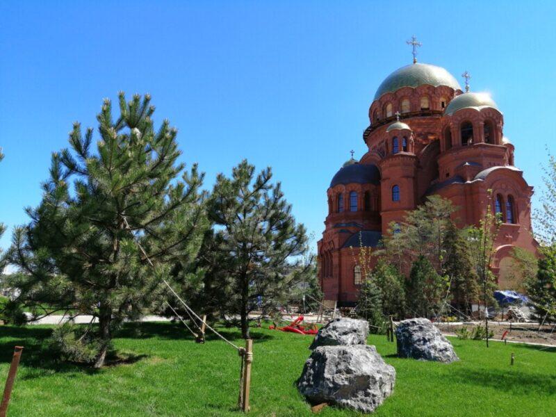 Волгоградцам разрешат выбрать название для сквера у собора Александра Невского