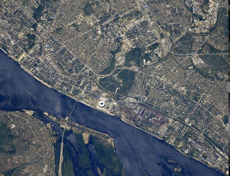 Космонавт Роскосмоса показал Волгоград с борта МКС