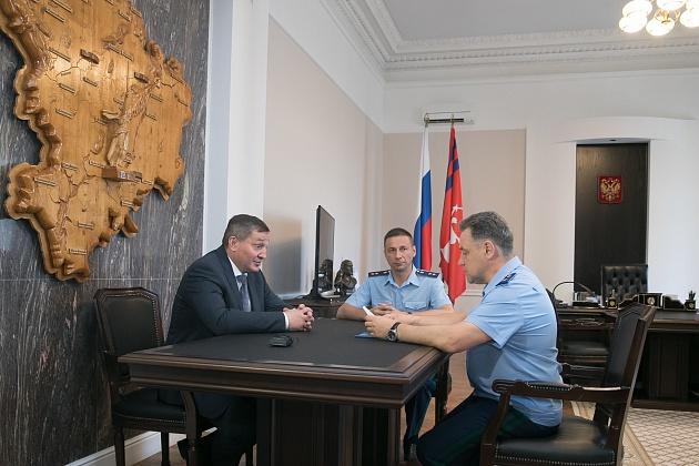 Андрей Бочаров встретился с руководством прокуратуры