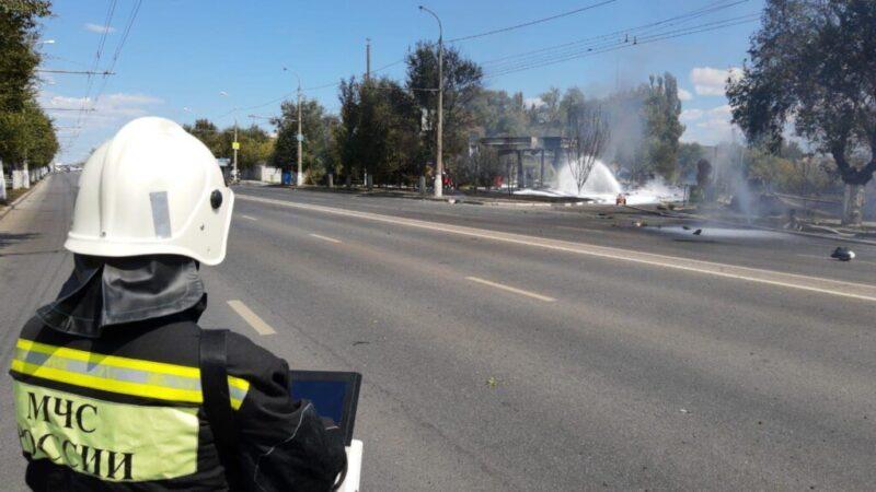 В Волгограде следователи организовали проверку мощного взрыва на заправке