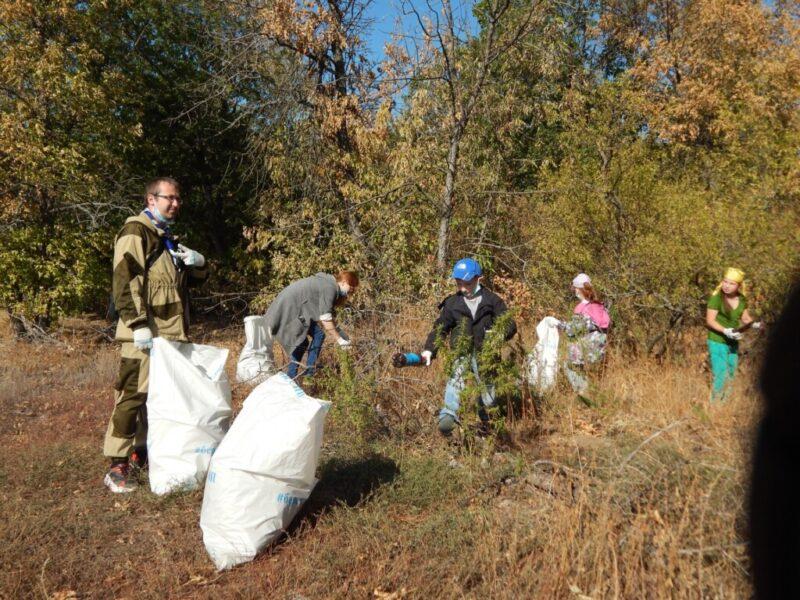 От мусора, оставленного туристами, волгоградские природные парки спасают волонтеры
