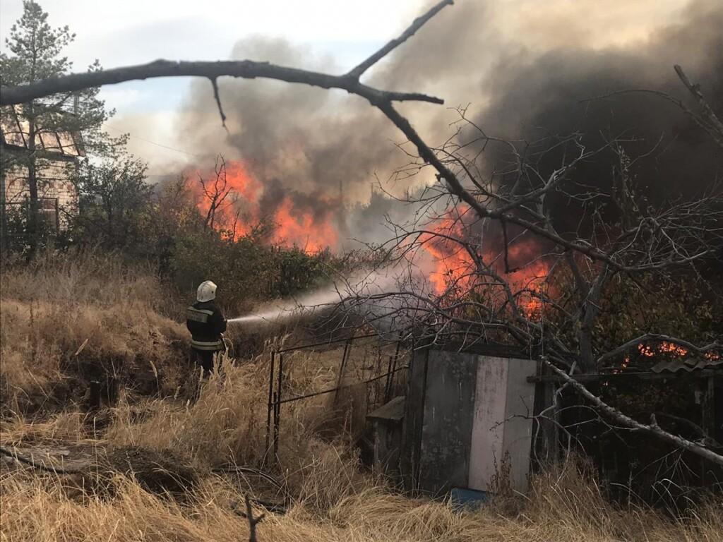 Огнем охвачен дачный поселок «Родник» под Волгоградом