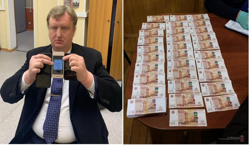 В Волгограде задержан крупный мошенник при получении 1,5 миллионов, предназначенных для дачи взяток