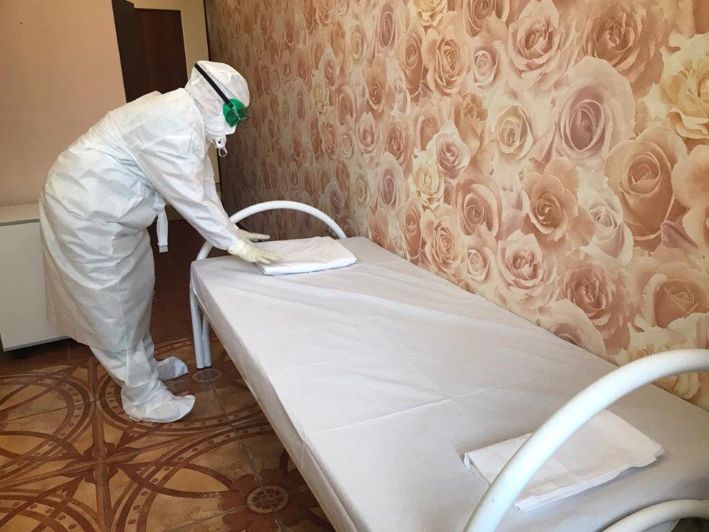 В Волгограде под ковидный госпиталь перепрофилировали санаторий