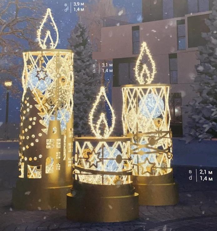 В Волгограде появилось еще несколько новогодних артобъектов