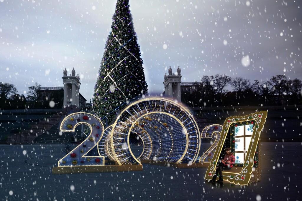 Волгоградцам рассказали, как украсят город к Новому году