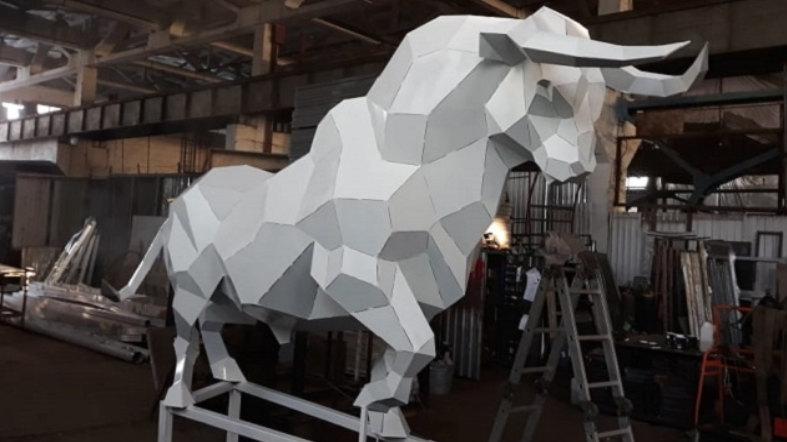 В центре Волгограда появится двухметровый бык