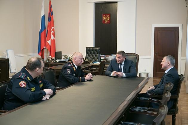 Андрей Бочаров встретился с руководством силового блока Волгоградской области