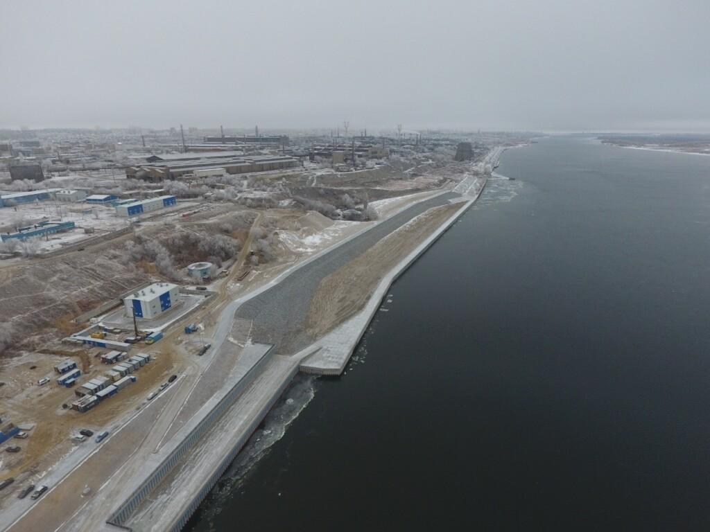 В Волгограде завершены берегоукрепительные работы правого берега Волги