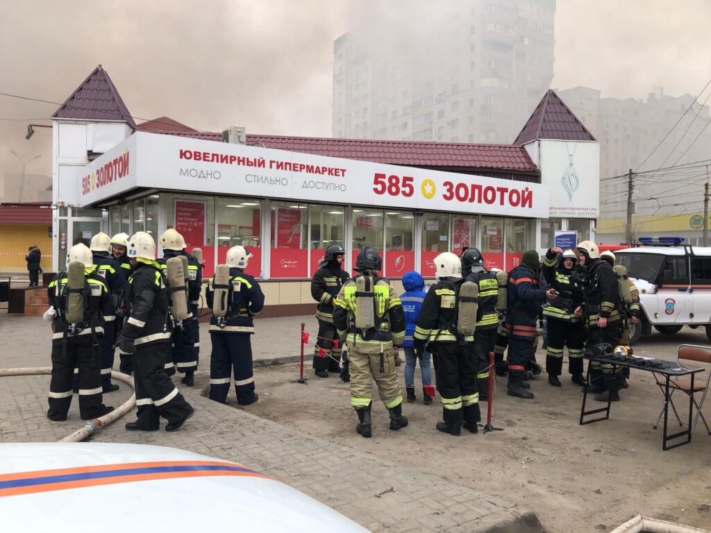 Названа предварительная причина возгорания на Качинском рынке в Волгограде