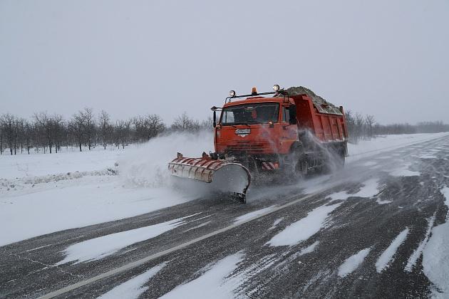 В Волгоградской области обеспечили проезд по всем трассам