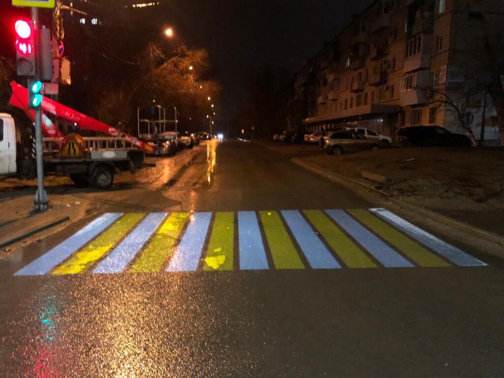 В Волгограде тестируют проекционную «зебру»