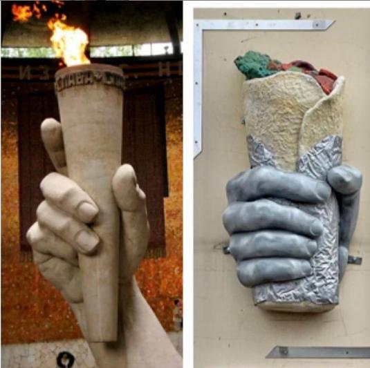 Александр Розенбаум увидел в памятнике «Питерской шаверме» сходство с «Вечным огнем» на Мамаевом кургане