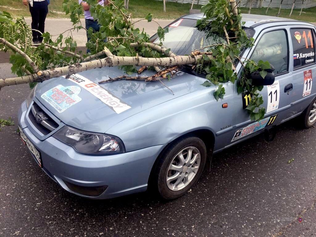 Из-за рухнувшей ветки в Волгограде третий день в тяжелом состоянии водитель учебной машины