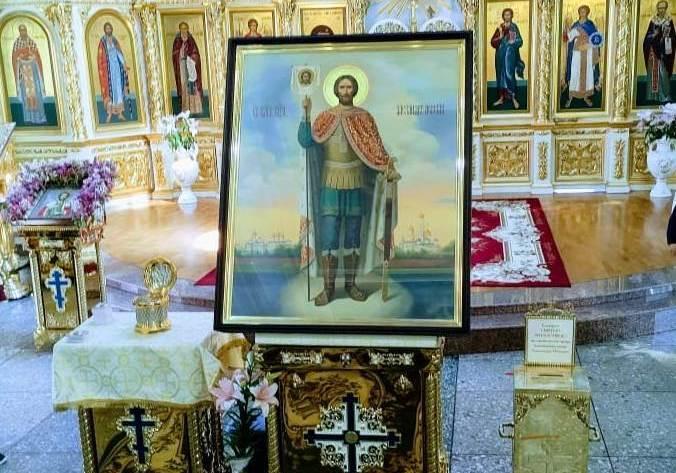 19 июня митрополит Феодор совершит молебен перед иконой и ковчегом с частицей мощей Александра Невского