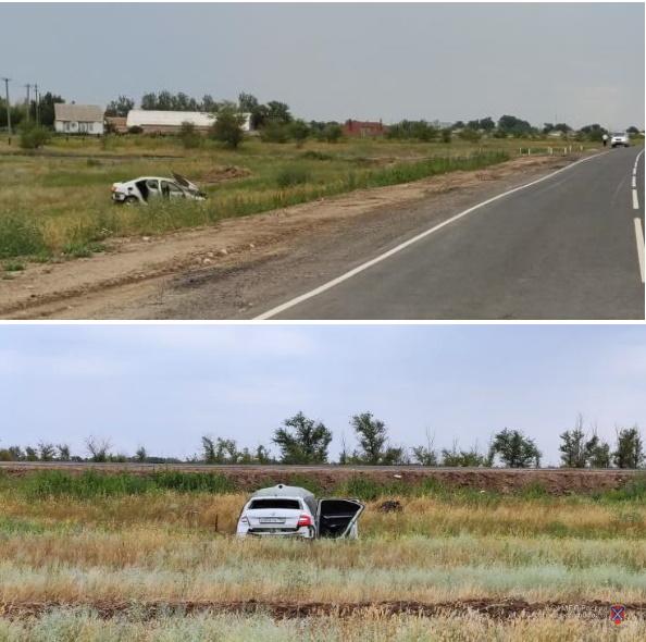 Иномарку москвича угнали и разбили в Волгоградской области