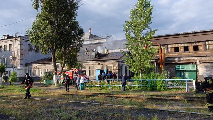 Ранним утром в центре Волгограда тушили пожар