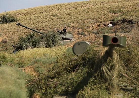 В Волгоградской области танкисты и артиллеристы уничтожили условного противника