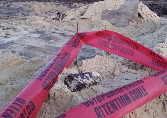 В Волгограде в котловане под новостройку нашли снаряд