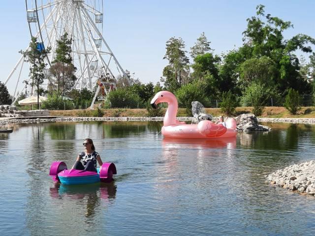 В центральном парке Волгограда появился пруд с катамаранами
