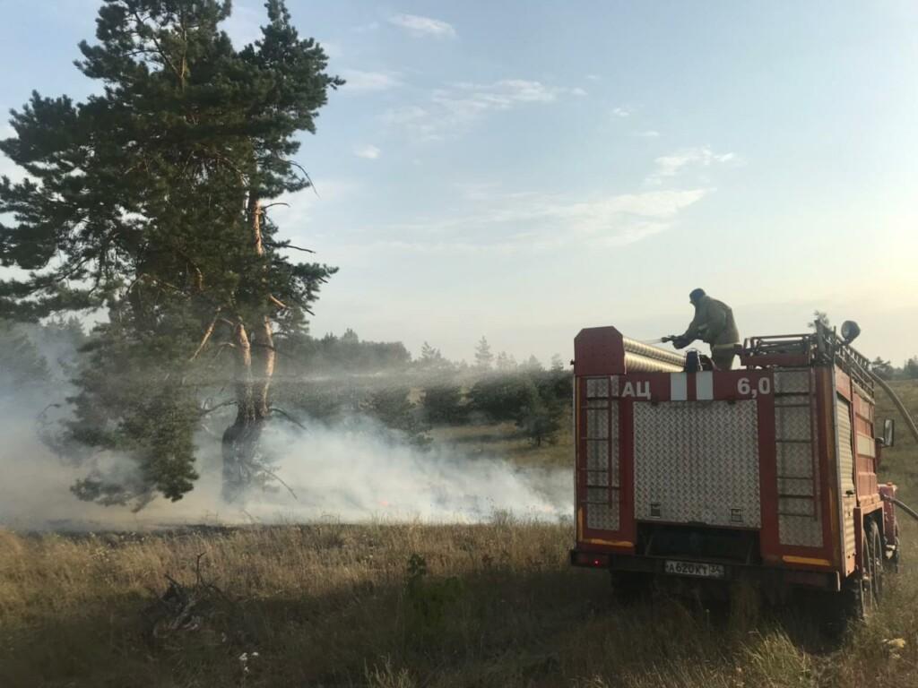 В Волгоградской области из-за пожара ночью эвакуировали целый хутор