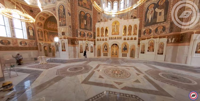 Недоделанный к выборам храм Александра Невского в Волгограде показали изнутри