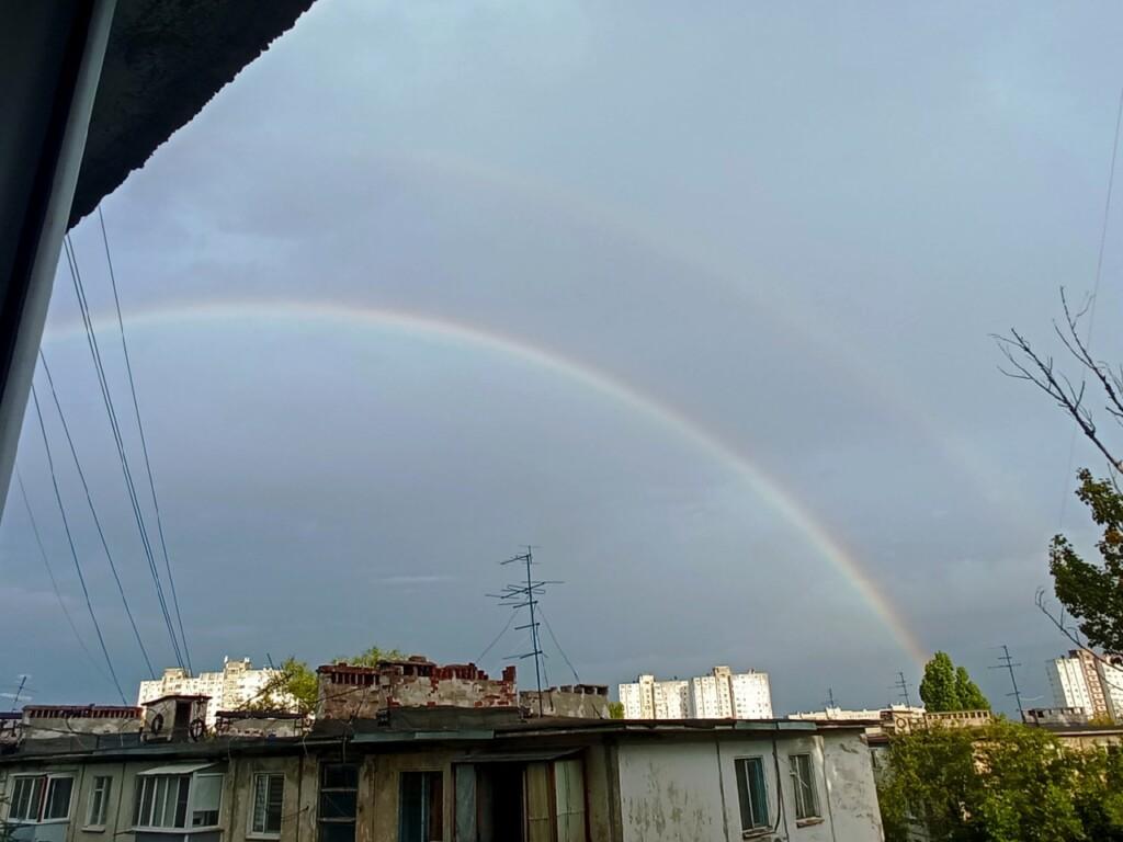 После выборов в небе над Волгоградом появилась двойная радуга