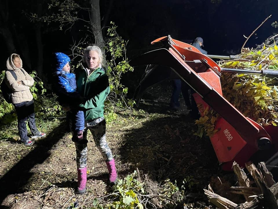 Женщина с ребенком остановила уничтожавший дубы бульдозер в Волго-Ахтубинской пойме