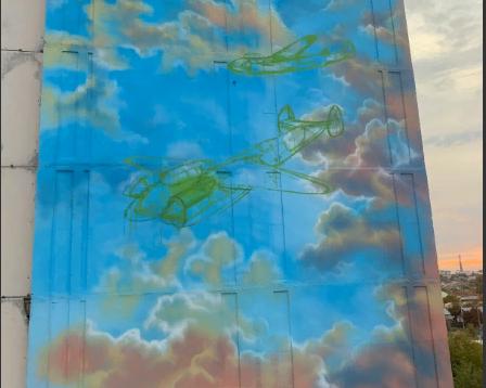 В Волгограде фасад высотки украсят гигантские советские самолеты